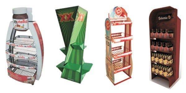 exhibidores de cartón